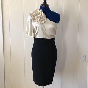 Trina Turk elegant off shoulder silk dress